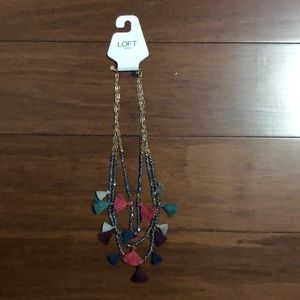Loft colorful thread necklace